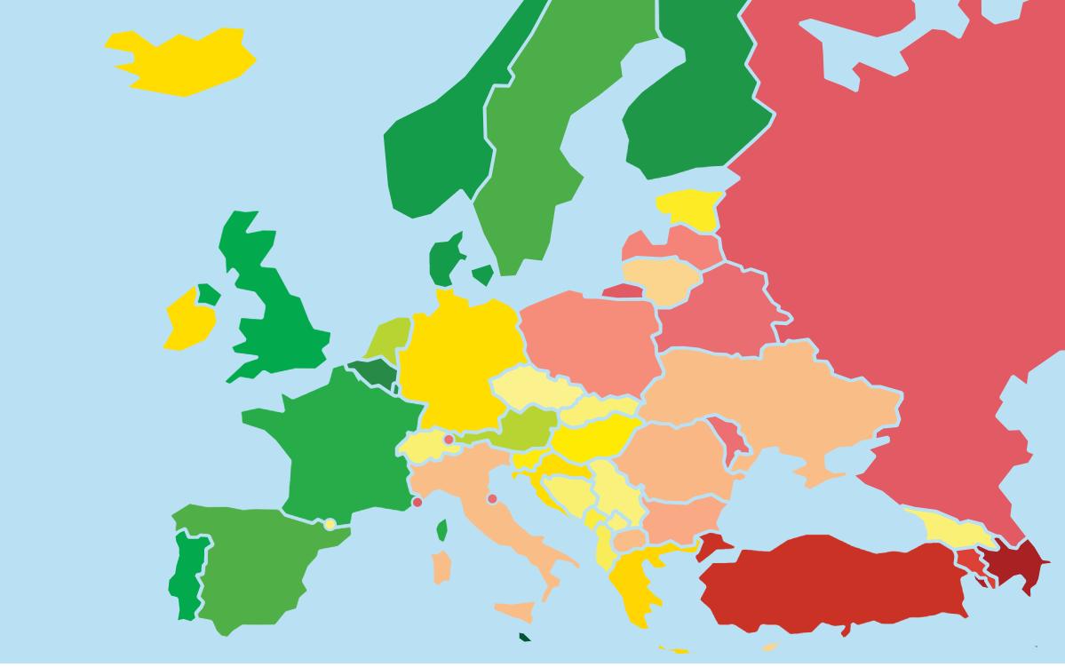 10-ти Rainbow Европа: Потвърдена стагнация и регресия на ЛГБТИ равенство призовават за незабавни действия